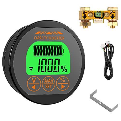 CAMWAY Battery Monitor 8-100V 0-350A Voltmeter Ammeter Voltage Current Meter Backlight Waterproof Auto Car Motor Boat Caravan RV Motorhome,etc