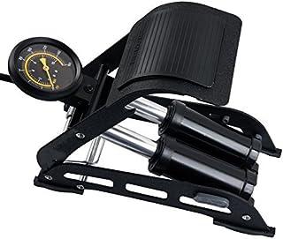 JIG'sMART 160 PSI Double Barrel Floor Pump for Car Motorcycle Bike Tires Black Foot Air Pump Inflator with Pressure Gauge (Colour May Be Vary)
