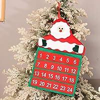 1pcクリスマスアドベントカレンダーサンタクローススノーマンエルク布フック装飾付き