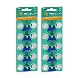 MovilCom® - 20 Pilas botón AG6 Pilas Reloj 1.5V Equivalent