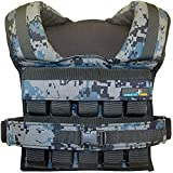 Gymnastics Power - Weighted Vest 45lb Removable Iron Weights for men and women workout For Calisthenics And Fitness Sport Training (black) (Camo)