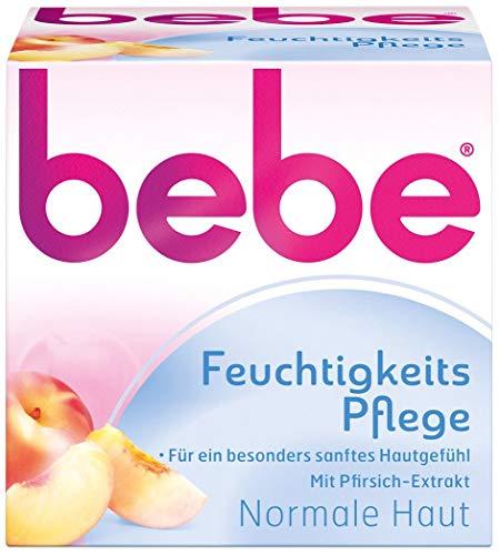 bebe Feuchtigkeitspflege - Sanfte Feuchtigkeitscreme mit Vitamin E für normale Haut - 1 x 50ml