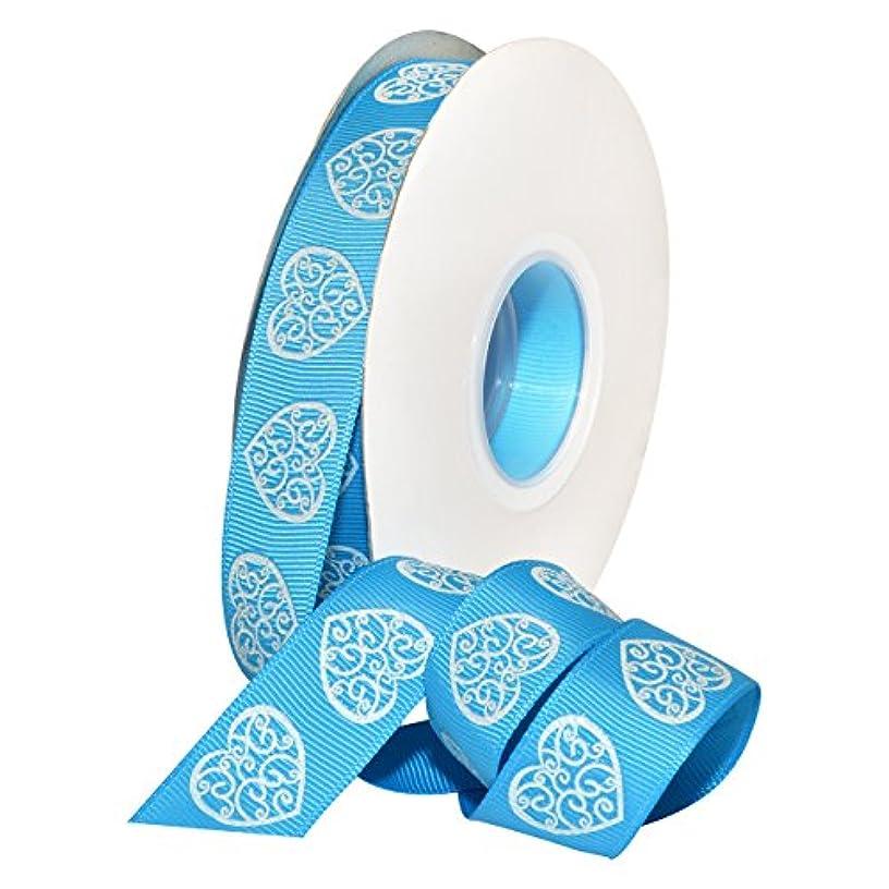 Morex Ribbon 7516.22/25-612 Lace Heart Polyester, 7/8