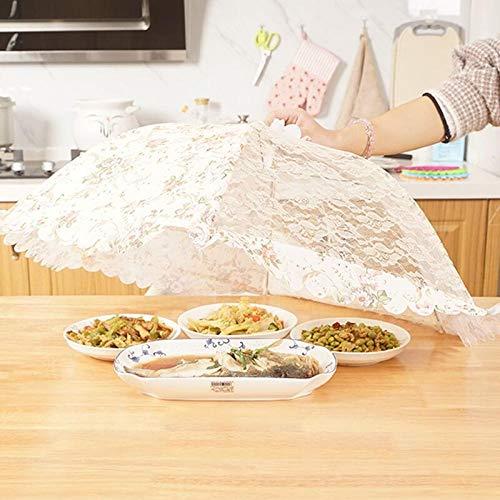 KANGXZ 1 Cubierta Plegable para Alimentos, Cubierta de Vegetales para el hogar, Paraguas, Redondo de 20 Pulgadas (Rosa Azul Amarilla)