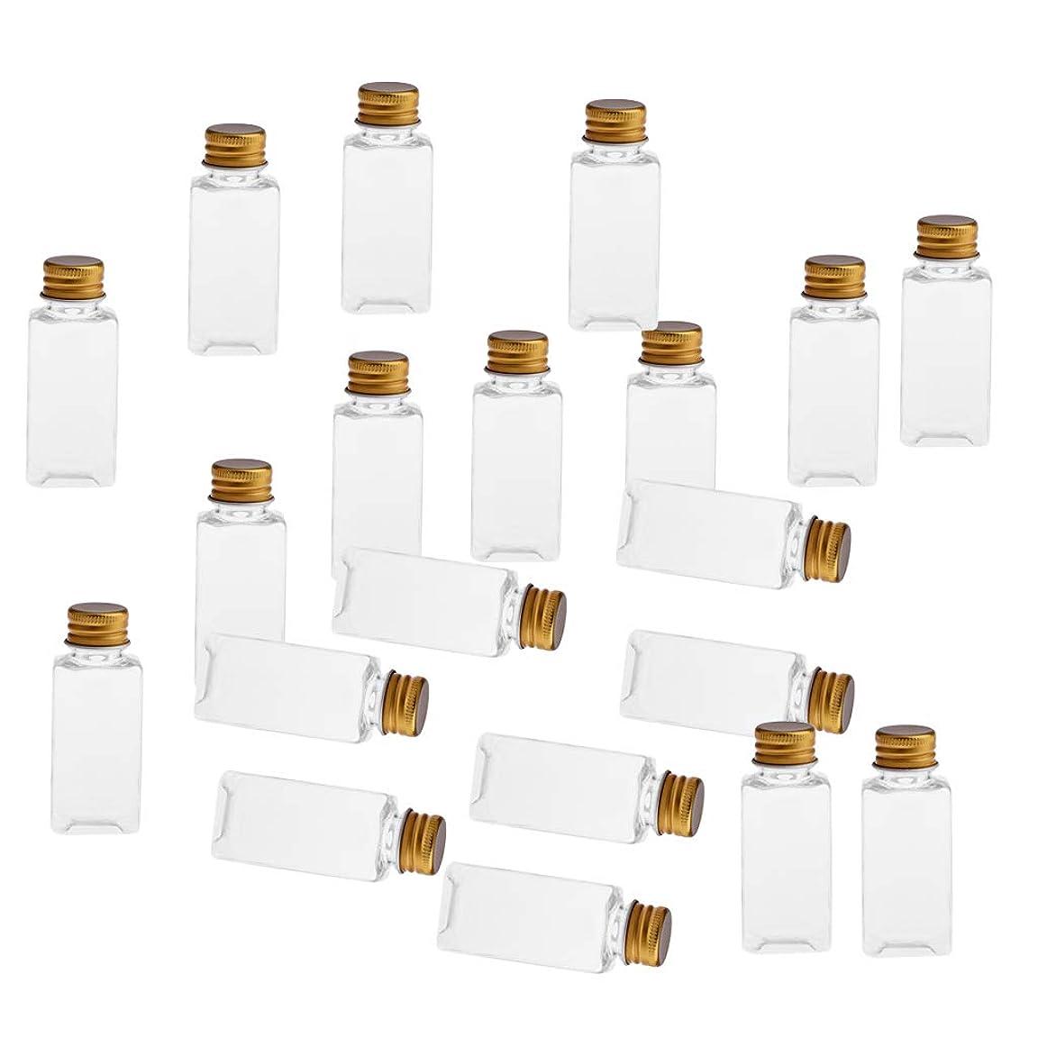 座る他の日アテンダントSM SunniMix 全8色 PETボトル 空のボトル 小分け用 化粧品 香水 エッセンシャルオイル 漏れ防止 約20個 - クリアゴールド