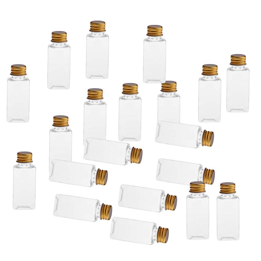 郊外絡み合いダイアクリティカルSM SunniMix 全8色 PETボトル 空のボトル 小分け用 化粧品 香水 エッセンシャルオイル 漏れ防止 約20個 - クリアゴールド