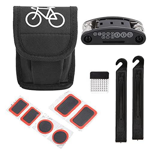 Herramienta de reparación de neumáticos de bicicleta Desmontar un neumático y reparar un pinchazo, para MTB y neumáticos de bicicleta de carretera, para reparación de bicicletas