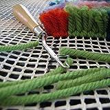 S-TROUBLE 100x150cm Alfombra en Blanco Malla de Enganche Lona Gancho de Cierre Alfombra Fabricación de tapices de alfombras Kit de Bricolaje Herramienta para Manualidades de Bordado Decoración