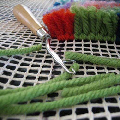 CHENGBEI 100x150 cm vuoto tappeto gancio tela gancio gancio gancio tappeto costruzione tappeto tappeto arazzo fai da te kit strumento per ricamo artigianato decorazione