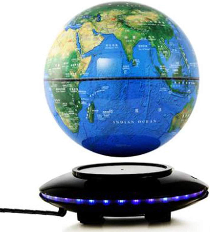compra en línea hoy Globo Flotante Luces LED De 6 Pulgadas Mapa Mapa Mapa del Mundo Giratorio oro Azul Decoración Silenciosa para El Hogar D(Light)  auténtico