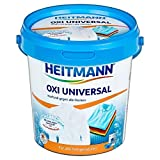 Heitmann Oxi Multi Smacchiatore universale per pulizia di tessuti e vestiti bianchi e colorati, smacchia grasso, 750g