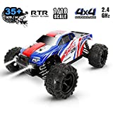 Off Road RC Car, High Speed Remote Control Truck,1:18 Scale 35+KMH 4WD All Terrain Beginners Hobby Toys Car for All Adults &Kids