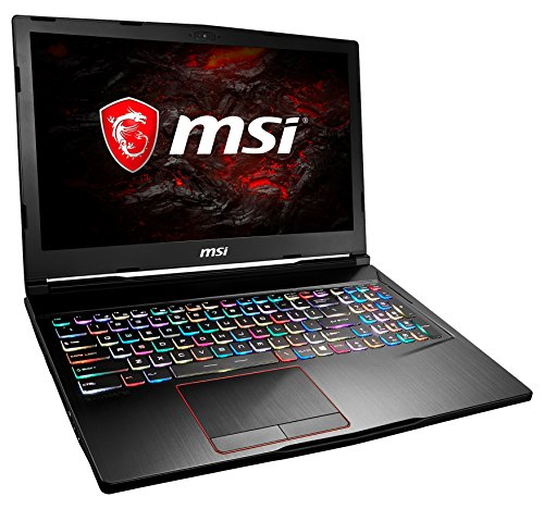 MSI GE63VR 7RE-036DE Raider (39,6 cm/15,6 Zoll/120Hz) Gaming-Laptop (Intel Core i7-7700HQ, 16GB RAM, 256 GB SSD + 1 TB HDD, Nvidia GeForce GTX 1060, Windows 10 Home) schwarz GE63