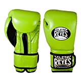 CLETO REYES Training Gloves with Hook and Loop Closure for Man and Women (12oz, Citrus Green)