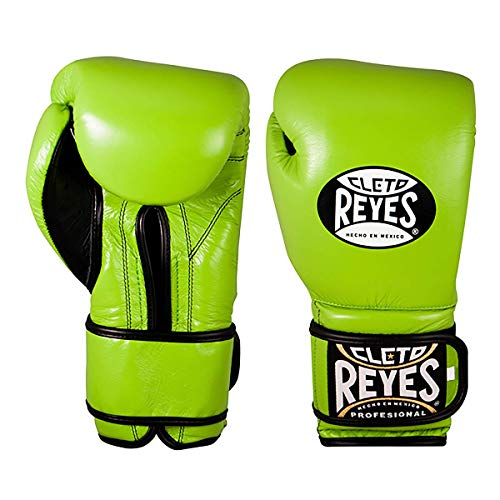Cleto Reyes Training Gloves with Hook and Loop Closure for Men and Women (14oz, Citrus Green)