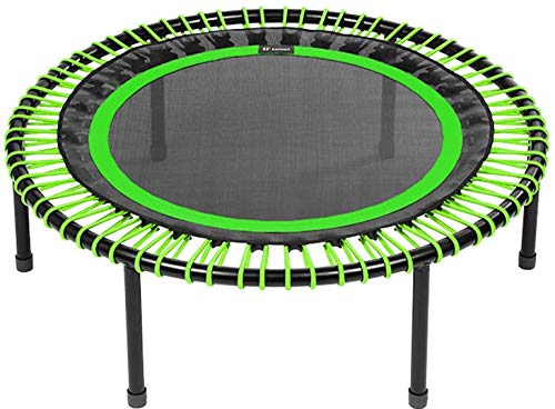 bellicon Classic Rebounder, Folding Legs, Comfort Mat, Green, ø 112 cm, Medium Bungees (60-90 kg), including Starter Pack, Made in Germany, and Design