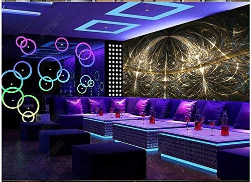 Papel Pintado 3D Decoración Murales Ambiente Fresco Diamante Flor De Lujo Barra Ktv Herramientas Fondo Pared 5-200Cmx140Cm
