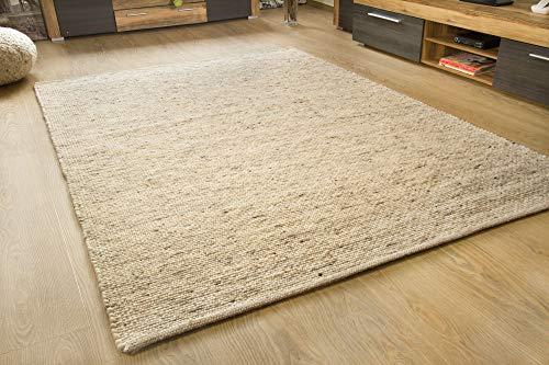 Murnau Handweb Teppich - aus nachhaltiger, deutscher Produktion - gewalkt - natur dunkel, Größe: 200x250 cm