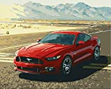 Pintura digital para adultos kit Ford Mustang pintura al óleo de bricolaje para principiantes niños pinceles y pinturas decoración de la pared del hogar 40x50cm sin marco