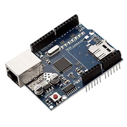 AZDelivery Ethernet Shield W5100 con Slot per Schede MicroSD per Arduino UNO R3 con eBook