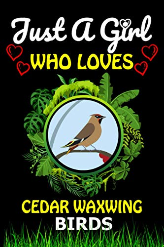 Just a Girl Who loves Cedar Waxwing: Cute Line Composition Notebook Gift For Cedar Waxwing Birds Lover Girl, Women, Grandma And girls To Write In For ... Lover Valentine & Birthday Funny Gift Ide