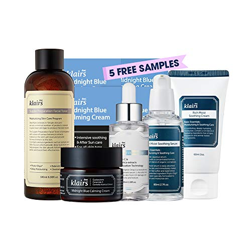 [KLAIRS] Angry Skin Calming Package, Acne care, Irritated skincare, toner, serum, vitamin c serum,blue cream, soothing cream, sample sachet