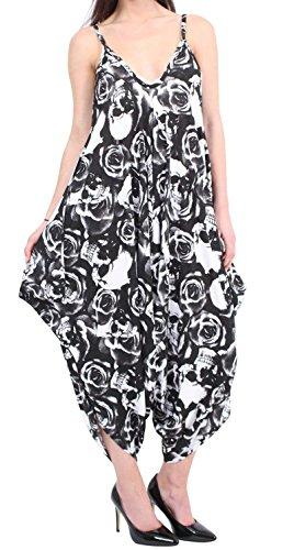 Women Plus Size Cami Harem Jumpsuit Dress