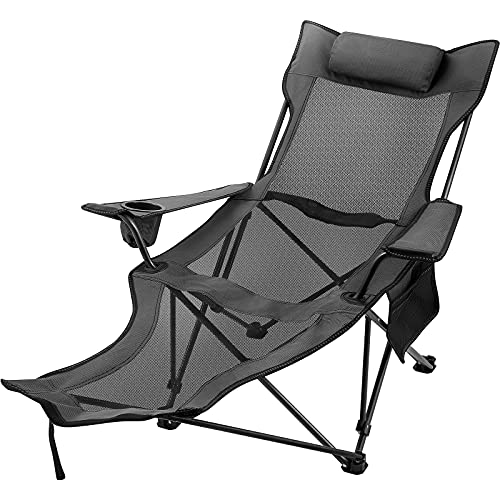 TITLE_Happybuy Recliner Camping Chair With Footrest