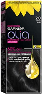 Garnier Olia, No Ammonia Permanent Hair Color With 60% Oils, 2.0 Black