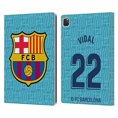 Head Case Designs Oficial FC Barcelona Arturo Vidal 2019/20 Jugadores Tercer Kit Grupo 1 Carcasa de Cuero Tipo Libro Compatible con Apple iPad Pro 12.9 (2020)