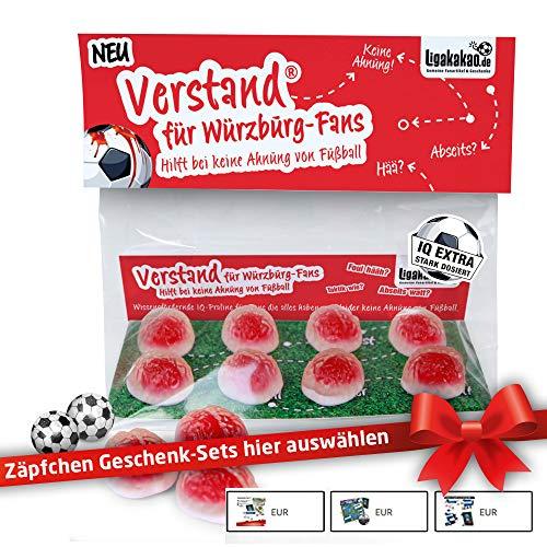 Kickers Geschenk Set ist jetzt VERSTAND für Würzburg-Fans | Fruchtgummi-Pralinen, hochdosiert | Für Schalke, Bayern & Fußball-Fans, denen der Verstand von Kickers-Fans am Herzen liegt