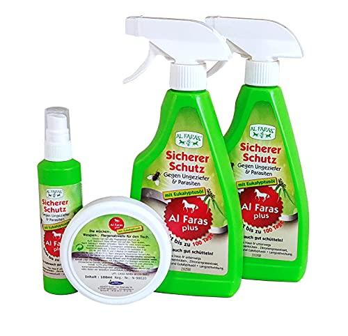 Aqua Clean AL FARAS Insektenschutz für Umgebung & Oberflächen neu mit Eukalyptusöl 4er Set