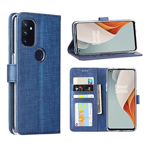 Foluu Schutzhülle für OnePlus Nord N100 5G, Klappetui, mit Kartenfächern und Standfunktion, stoßfest, mit Kartenschlitz für OnePlus Nord N100 5G (blau)