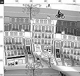 Paris, Französisch, Stadt, Gebäude, Architektur Stoffe -