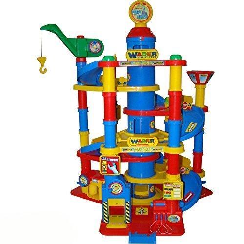 Wader Park Garage Tower, 7 Ebenen, Waschanlage, Tankstelle und Autos