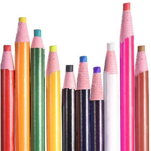 20 Pieces Sewing Mark Pencil Tailor Chalk No Cutting Chalk Sewing Fabric Pencil Tailor Marking and Tracing Tools for Sewing Marking and Tracing, 10 Colors
