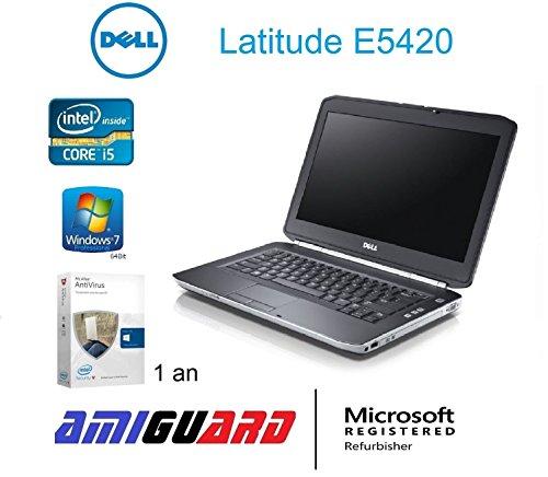 DELL Latitude E5420–PC portátil–14,1–gris (Intel Core i52520M/2.50GHz, 4GB de RAM, Disco duro de 250GB, grabadora DVD, WiFi, Windows 7Profesional)