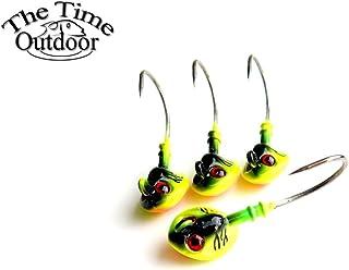 Paystore Dorado: Jig Head anzuelo de pesca con anzuelo recto, la mejor marca, cabeza de plomo, anzuelo de pesca para cebo suave buena calidad