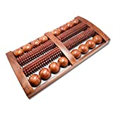 Hathkaam Foot Wooden Massager with Multi Roller 13'  Rosewood Unisex Massager for Full Body Pain Relief   Relieves Muscle Pain   Gives Acupressure on Bottom of Foot. HKMP005