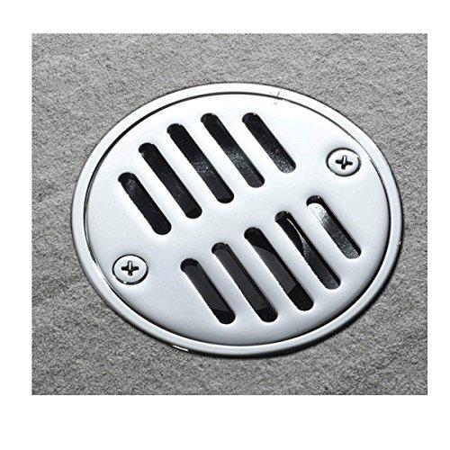 Popowbe Flieseneinsatz, rund, Dusche, Bodenablauf, Rost, Badezimmer, unsichtbar, silberfarben, desodorierend, Kupferabdeckung