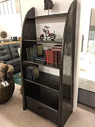 YBQ Sculpture Designer Aviator Aluminium Open Vintage Bookshelf Home Decor (Vintage Copper) (Color : Vintage Jet Brass)