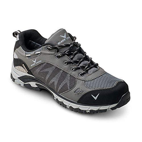 Black Crevice Herren Trekkingschuhe, schwarz/Silber/grau, 43