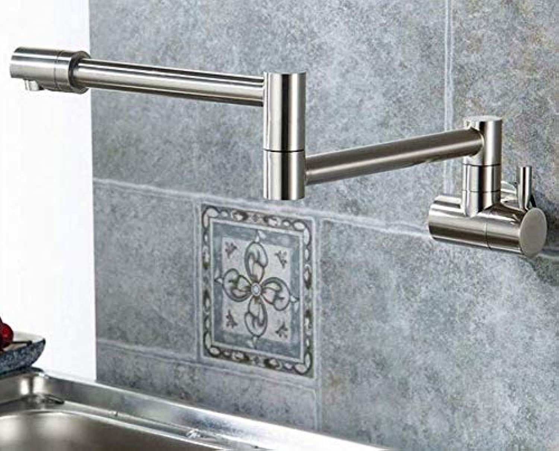 Wasserhahn Badewanne Einhand Kalt Falten Swing Pot Füller Gelenkarmatur Waschtischarmatur Nickelbürste Wandhalterung Küchenarmatur (Farbe  -, Gre  -)