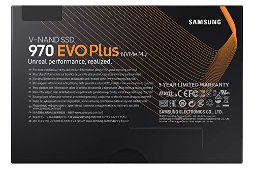 Samsung 970 EVO Plus 250 GB PCIe 3.0 (bis zu 3.500 MB/s) NVMe M.2 Internes Solid State Drive (SSD) (MZ-V7S250BW)