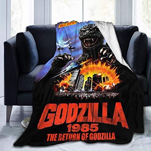 Harla Flanell Fleece Soft Throw Blanket Die Rückkehr von Godzilla Monsters 1985 Filmplakat Dekorative Throw Blankets, waschbar Super Soft Warm Blanket 80 * 60in
