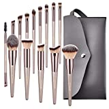 BESTOPE Conical Handle Makeup Brushes With Case Bag Professional...