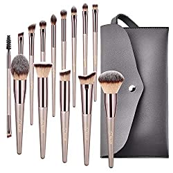 Bộ cọ trang điểm 14 cây BESTOPE Makeup Brushes, Conical Handle Professional Premium Synthetic Makeup Brush Set Kit With Case Bag for Blending Foundation Powder Blush Eyeshadow,14 Count