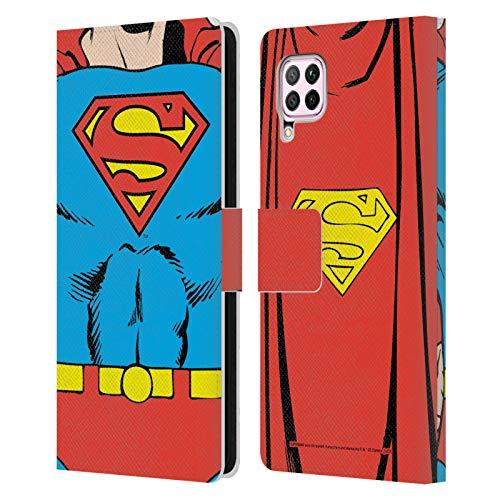 Head Case Designs Oficial Superman DC Comics Disfraz clsico Logotipos Carcasa de Cuero Tipo Libro Compatible con Huawei Nova 6 SE / P40 Lite