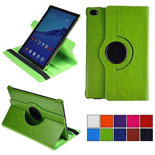 COOVY® 2.0 Cover für Huawei MediaPad M5 Lite 10.1 Rotation 360° Smart Hülle Tasche Etui Hülle Schutz Ständer Auto Sleep/Wake up | grün