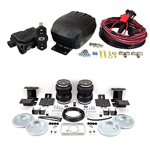 Air Lift 25980 57204 Set of Wireless One Single Path On-Board Air Compressor System with Rear Load Lifter 5000 Kit for 07-18 GMC Sierra/Chevrolet Silverado 1500